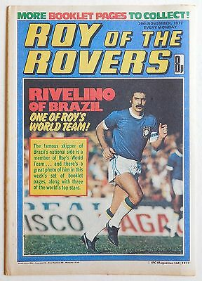 ROY OF THE ROVERS Comic - 26th November 1977