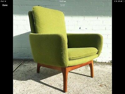 Mid Century Danish Deluxe Armchair C1960s Fler Parker Featherston Pair Available