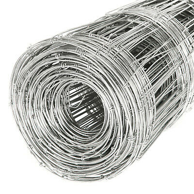 50M L7/80/15 Stock Fencing Roll Sheep Pig Cattle Livestock Fence Galvanised Wire