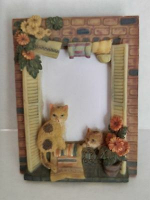 Cat Photo Frame Overall size 6.75 x 5.25; Holds 3x5 Photo