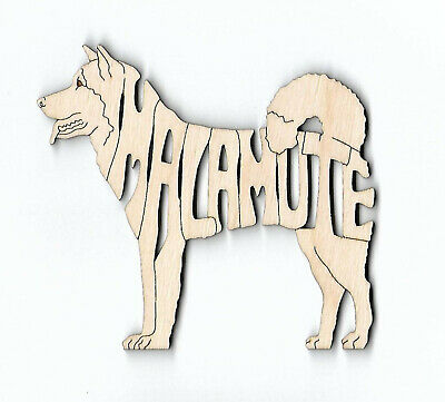Alaskan Malamute Dog laser cut and engraved wood Magnet