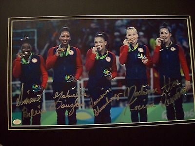 2016 Women's Olympic Gymnastics Team Signed Autographed Color Photo Guaranteed!!