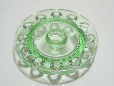 Art Deco Green Glass Insert, Flower Holder (Frog). 5 5/8 Inch. GC