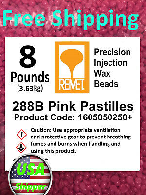 REMET Pink Bead Injection Wax Jewelry & High Precision Lost Wax Casting 8 lbs
