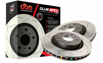 DBA PAIR T3 Slotted Front Rotors for Toyota Landcruiser 200 08-> DBA42722S x2