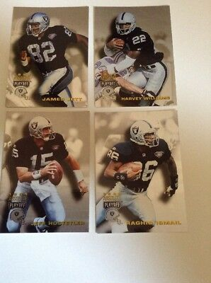 1995 Absolute Playoff Los Angeles Raiders  4 Cards