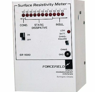 Static Management Systems Sr1000 Surface Resistivity Meter Sr 1000 Megohmmeter