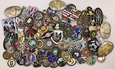Lot of 100 Challenge Coins FBI CIA USN CPO Police Military Trump USS Enterprise