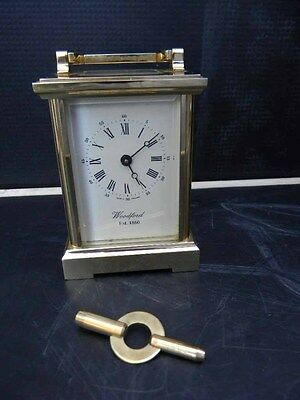 English carriage clock by Woodford