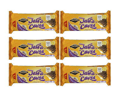 908204 6 x 147g PACKETS OF JACOB'S JAFFA CAKES SPONGY CAKES WITH ORANGY CENTRES