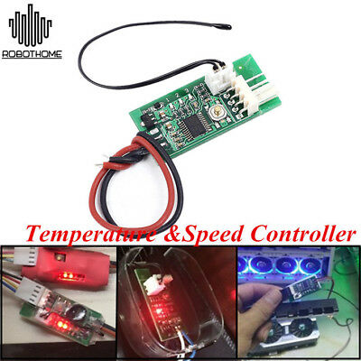 PWM 4-Wire Fan Temperature Controller Speed Governor for PC Fan/Alarm DC 12V