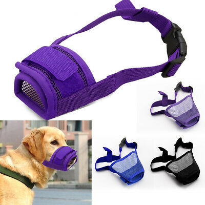Adjustable Dog Safety Muzzle Biting Barking Chewing Small Medium Large UK