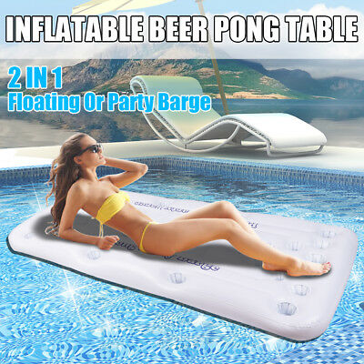New Inflatable Pools Party Barge Beer Pong Table Rivers Cooler Floating Swimming