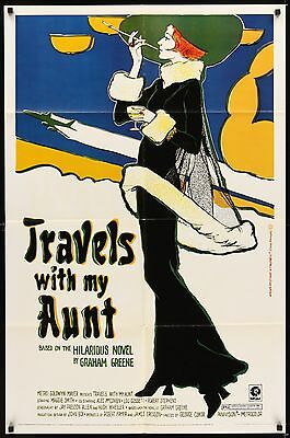 TRAVELS WITH MY AUNT  original film / movie poster - Maggie Smith