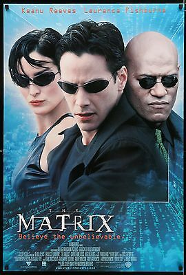 THE MATRIX - Keanu Reeves  - original film / movie poster