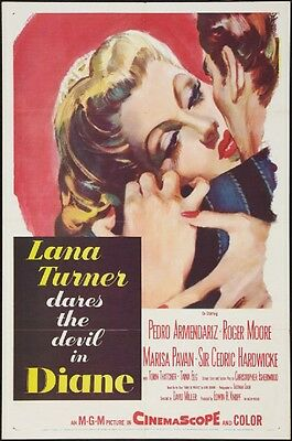 DIANE - Lana Turner -  original film / movie poster poster