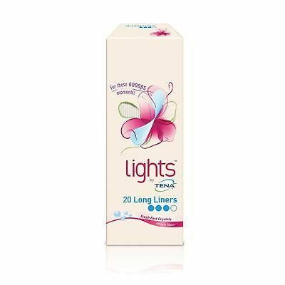 Lights by TENA 20 Long Liner liners 1 2 3 6 12 Packs