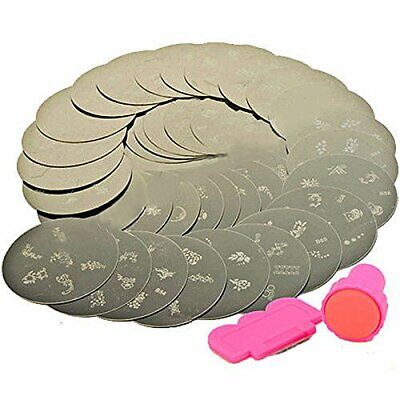 10 X Nail Art Stamp Stamping Plate Set + Tool Stamper Design Kit