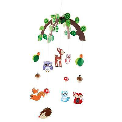 Small Foot Mobile Waldtiere Holz Stoff Baby aufhängen Mehrfarbig 66 x 29x 29.cm