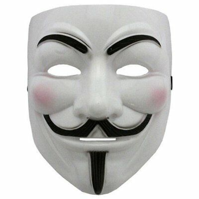 V for Vendetta with eyeliner Guy Fawkes Fancy Adult Costume Halloween mask