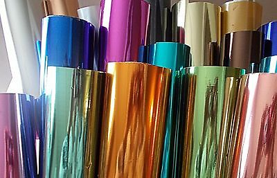 Hot foils from 99p/metre TODO, Craft Dragon, GoPress.  Wider width, new colours.