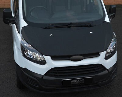 Black Front Bonnet Bra / Protector To Fit Ford Transit Custom (2012-17)