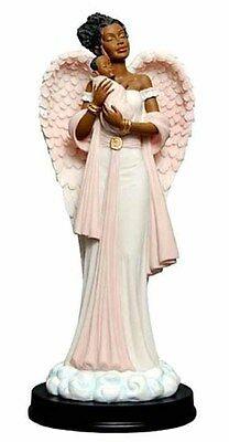 Angel in Pink With Baby: African American Figurine (16258) NEW