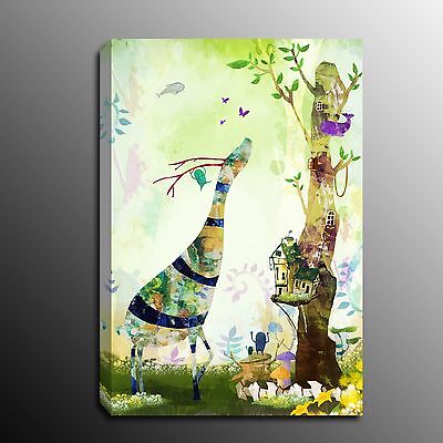 Animals Wall Decor Canvas Print Home Art Abstract Deer Modern Painting Picture