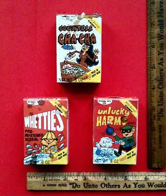 Zilly Zereal Countess Cha Cha Unlucky Harms Whetties Cereal Boxes Fun Foods Co