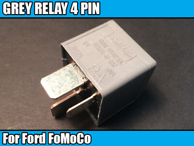 1 GREY RELAY 4 PIN For Ford FoMoCo Electrical Component 5M5T14B192EA V23136J4X62