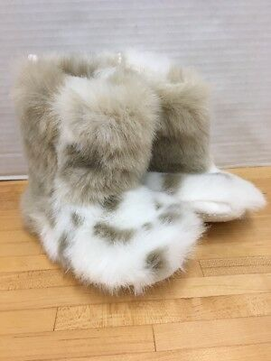 Restoration Hardware Baby & Child Faux Fur Bootie Slippers Childs Small 2-4 Yrs