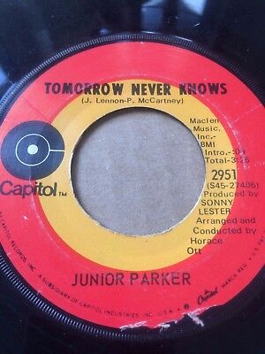 """Northern Soul 45/ Junior Parker """"Tomorrow Never Knows""""  Hear!"""