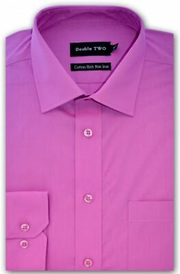 """Double Two LS Non Iron Formal Shirts (4500) ,Collar 14.5-18"""", Vibrant Colors"""