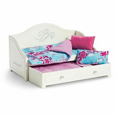 American Girl Trundle Bed and Bedding Set for Dolls Truly Me Dreamy Day NEW!