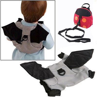 Small Kids Toddler Walking Safety Harness Backpack Security Strap Bag  Leash