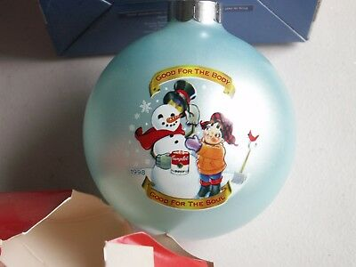 NIB Campbell's Soup Ornament 1998 collector's Edition Snowman
