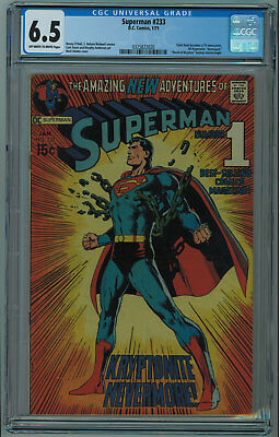 Superman #233 Cgc 6.5 Iconic Neal Adams Superman Cover Ow/w Pgs 1971