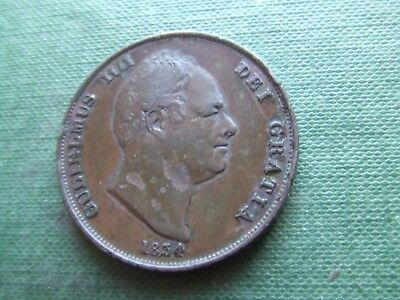 William Iv.  1834 Penny.   Scarce Date.   Nice Condition.