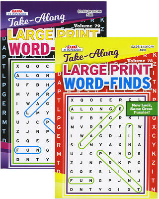 KAPPA TAKE ALONG LARGE PRINT WORD FINDS PUZZLE BOOK - DIGEST SIZE > (Case of 24)