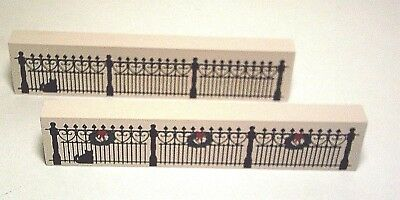 Cats Meow Village Wrought Iron Fences ~ NEW ~ Lot  of 2 Accessories ~ LAST SET !