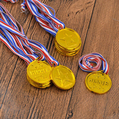 24 Pcs Plastic Gold Medals for Winner Kids Sprots Meeting Award Ceremony Funny
