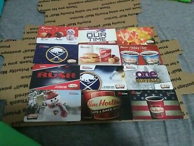 TIM HORTONS coffee Lot of 12 cards, no value Gift Card collectibles