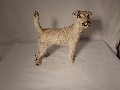 "Hubley 279 Cast Iron Figural Wire Haired Fox Terrier 8 5/8"" Tall Door Stop -  Nr"