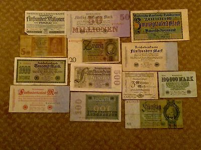 Germany - Lots Of 13 Banknotes #1-