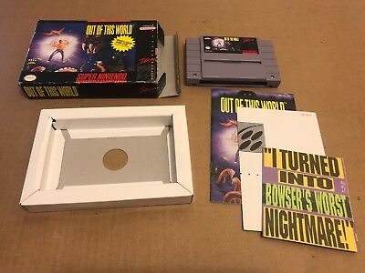 Out of This World (Super Nintendo SNES, 1992) Complete CIB