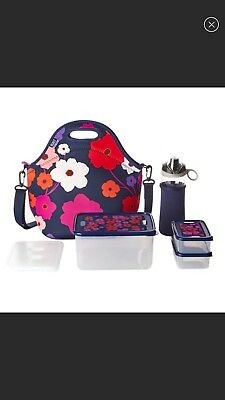 NWT Built NY 10 Piece Neoprene Insulated Lunch Bag Set Ice Pack & Tritan Bottle
