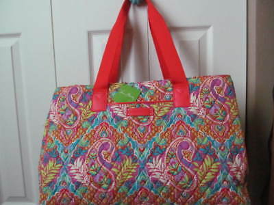 VERA BRADLEY Triple Compartment Travel Bag Paisley in Paradise Carry On NWT