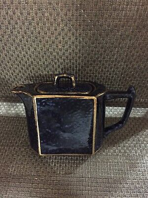 Tea Pot From England.  Blue & gold color