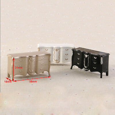 Doll House White Black Champagne European Miniature Cabinet Furniture  for Child