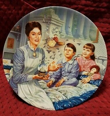 """WALT DISNEY'S MARY POPPINS """"Tuppence A Bag"""" KNOWLES 6th Movie Plate W/ COA"""